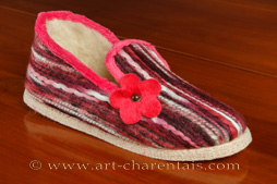 Charentaises roses effet tricot