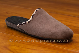 Mules taupe pour femme